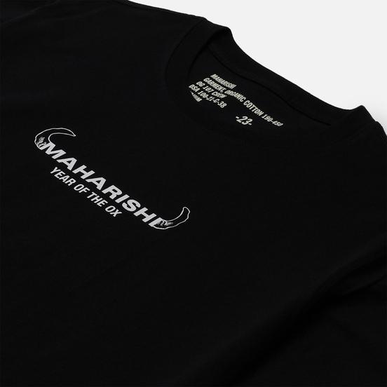 Мужская футболка maharishi Ushi-Oni Ox Black