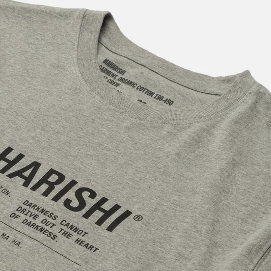 Мужская футболка maharishi Maha Miltype 21 Grey Marl