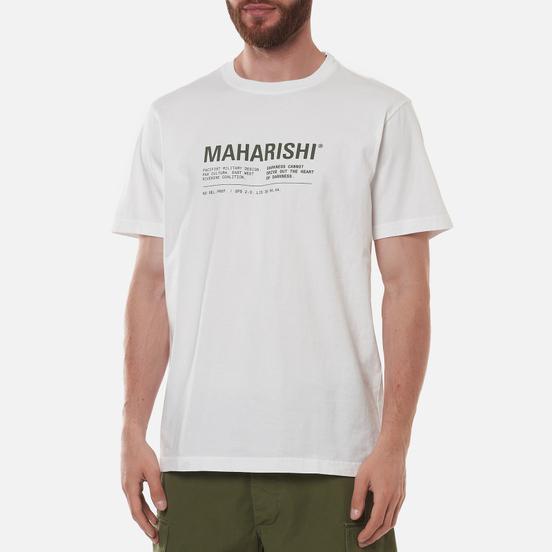 Мужская футболка maharishi Maha Miltype 21 White/Olive