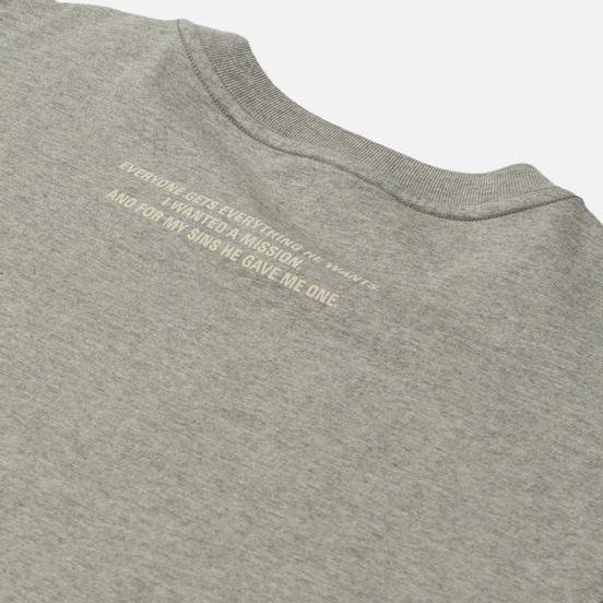 Мужская футболка maharishi Apocalypse Grey Marl
