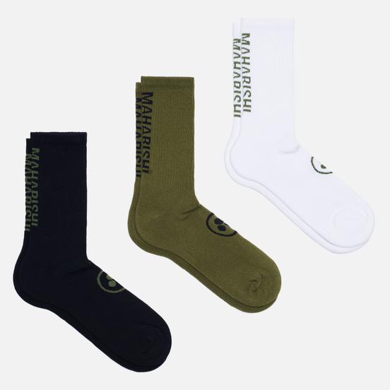 Комплект носков maharishi Miltype Sport 3-Pack White/Black/Olive