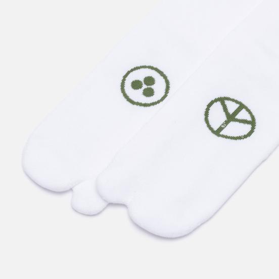 Комплект носков maharishi Miltype Tabi 3-Pack White/White/White