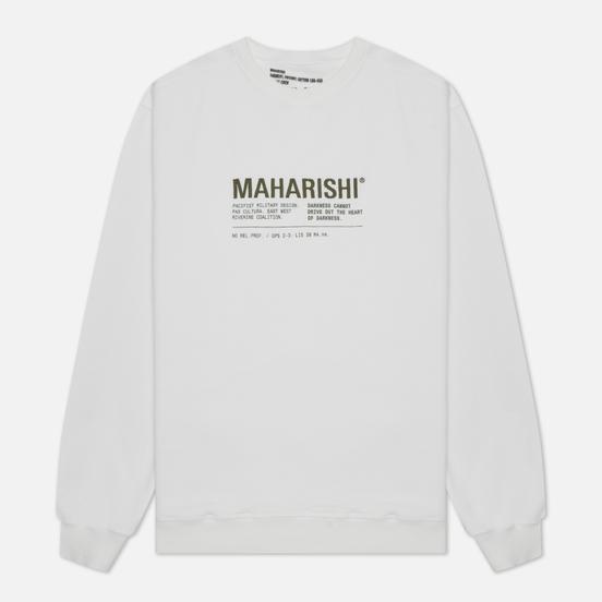 Мужская толстовка maharishi Maha Miltype 21 Crew Neck White/Olive