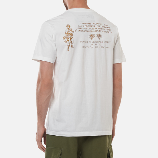 Мужская футболка maharishi Maha Gold Tailor White