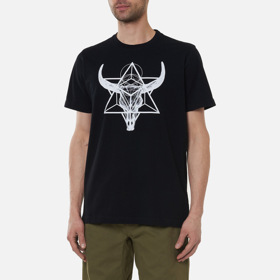 Мужская футболка maharishi x Myoshka Lunar Ox Black
