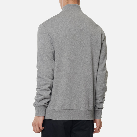 Мужская толстовка Fred Perry Embroidered Panel Half Zip Steel Marl