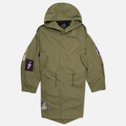 Мужская куртка парка Fred Perry x Raf Simons Detachable Fleece Liner Olive