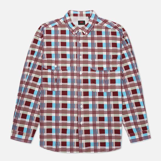 Мужская рубашка Levi's Skateboarding LS Woven Printed Burgundy/Blue