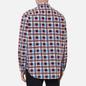 Мужская рубашка Levi's Skateboarding LS Woven Printed Burgundy/Blue фото - 4