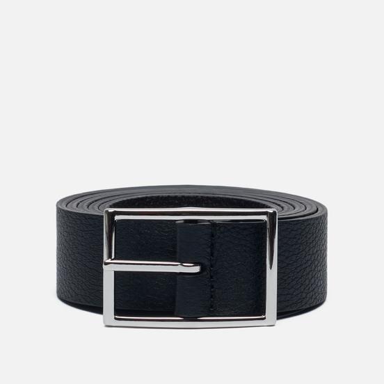 Ремень Anderson's Narrow Reversible Soft Grained Leather Black