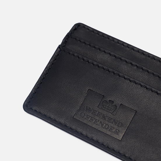 Держатель для карточек Weekend Offender Leather Black