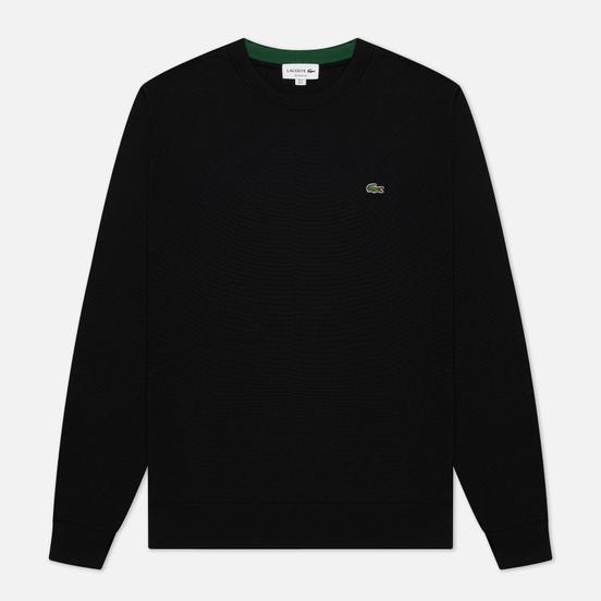 Мужской свитер Lacoste Classic Fit Embroidered Crocodile Black