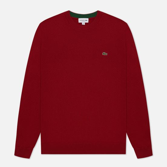 Мужской свитер Lacoste Classic Fit Embroidered Crocodile Bordeaux