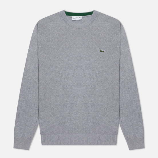 Мужской свитер Lacoste Classic Fit Embroidered Crocodile Silver Chine