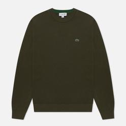 Мужской свитер Lacoste Classic Fit Embroidered Crocodile Khaki Green