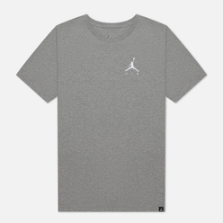 Мужская футболка Jordan Jumpman Air Embroidered Carbon Heather/White
