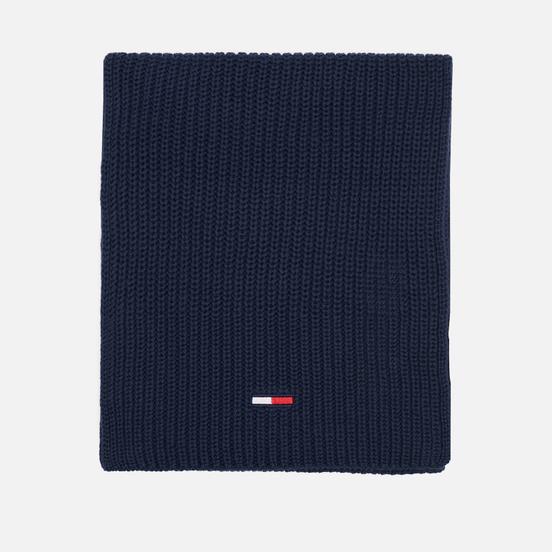 Шарф Tommy Jeans Basic Flag Rib-Knit Twilight Navy