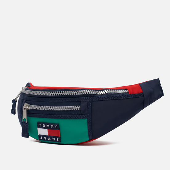 Сумка на пояс Tommy Jeans Heritage Chunky Zip Midwest Green