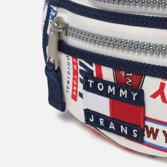 Сумка на пояс Tommy Jeans Heritage Print Canvas Logo Print/White