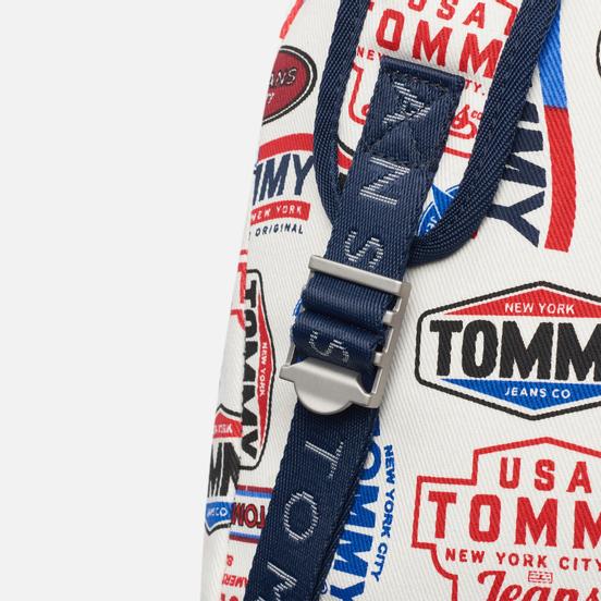 Рюкзак Tommy Jeans Heritage Flap Print Logo Print/White