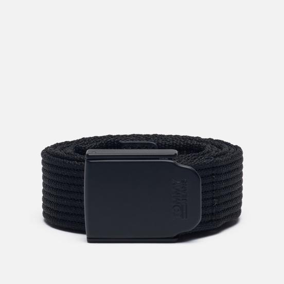 Ремень Tommy Jeans Plaque Buckle Webbing Black