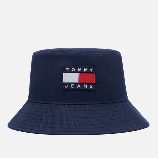 Панама Tommy Jeans Tommy Badge Pure Cotton Twilight Navy