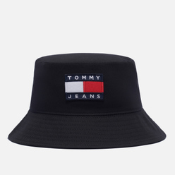 Панама Tommy Jeans Tommy Badge Reversible Black