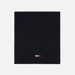 Шарф Tommy Jeans Basic Rib Cotton Black