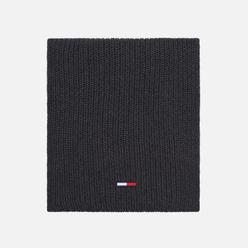 Шарф Tommy Jeans Basic Rib Cotton Dark Grey Melange