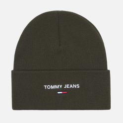 Шапка Tommy Jeans Sport Dark Olive