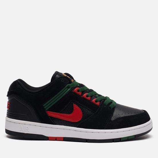 Мужские кроссовки Nike SB Air Force II Low Deep Forest Black/Gym Red/Deep Forest