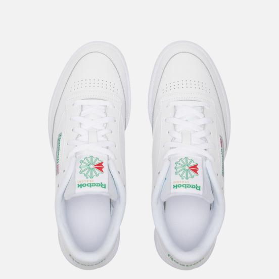 Мужские кроссовки Reebok Club C 85 White/Int-White/Green