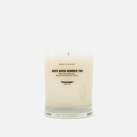 Baxter of California Scented Candle White Wood 2
