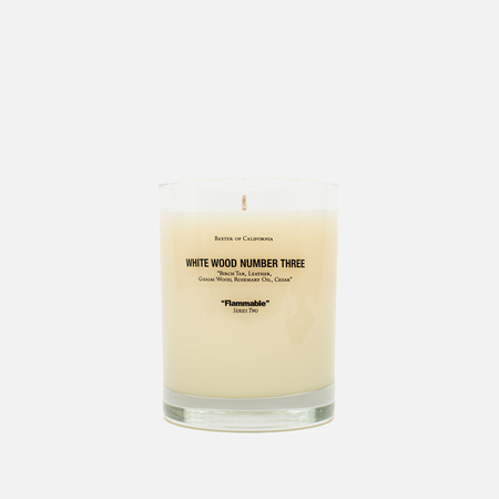 Baxter of California Scented Candle White Wood 3