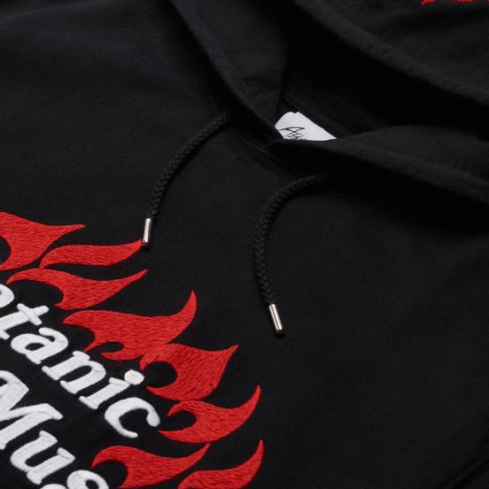 Мужская толстовка ASSID Satanic Rock Music Embroidered Hoodie Black