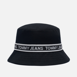 Панама Tommy Jeans Repeat Logo Tape Black