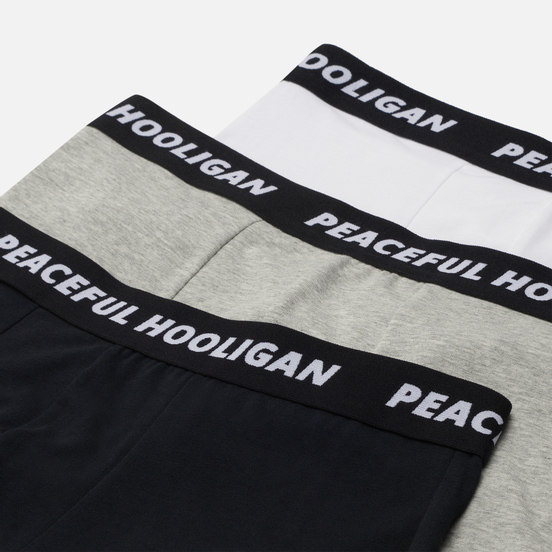Комплект мужских трусов Peaceful Hooligan Underwear 3-Pack White/Grey/Black