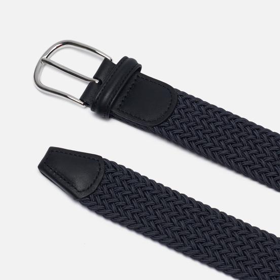 Ремень Anderson's Classic Plain Elastic Woven Dark Grey