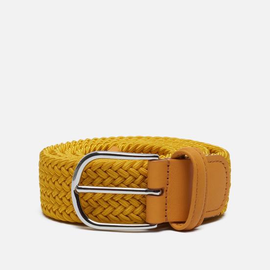 Ремень Anderson's Classic Plain Elastic Woven Yellow
