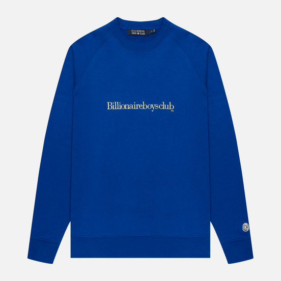 Мужская толстовка Billionaire Boys Club Embroidered Logo Crewneck Blue