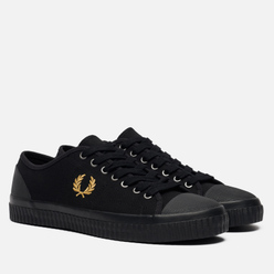 Мужские кеды Fred Perry Hughes Low Canvas Black/Champagne