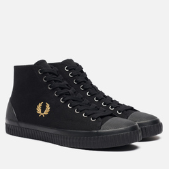 Мужские кеды Fred Perry Hughes Mid Canvas Black/Champagne