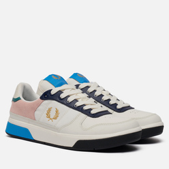Мужские кроссовки Fred Perry B300 Snow White/Metallic Gold