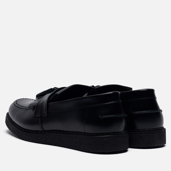 Мужские ботинки лоферы Fred Perry x George Cox Tassel Black