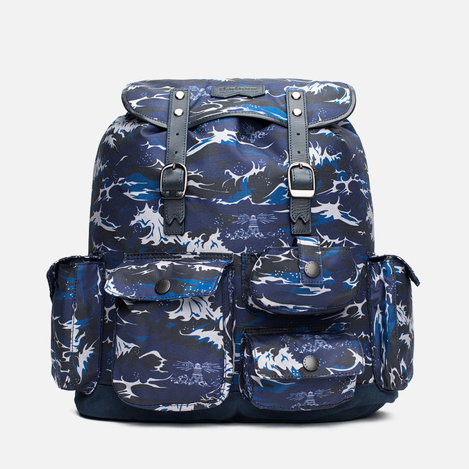 Рюкзак Barbour x White Mountaineering Wave Rucksack Blue