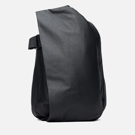 Cote&Ciel Isar Coated Canvas/Leather Backpack Black