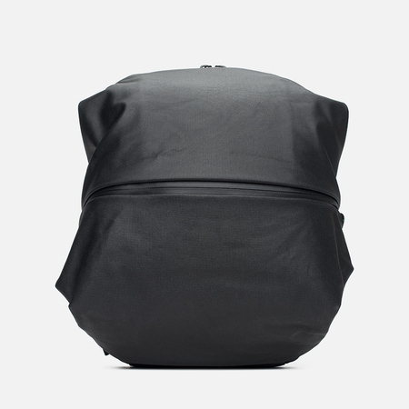 Cote&Ciel Meuse Coated Canvas/Leather Backpack Black