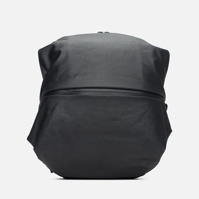 Cote&Ciel Meuse Coated Canvas/Leather Backpack Black