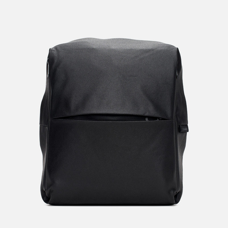 Cote&Ciel Rhine Coated Canvas/Leather Backpack Black