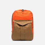 Filson Twill Backpack Tan/Orange photo- 0